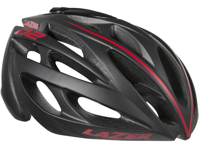 Lazer O2 Helm black-red line